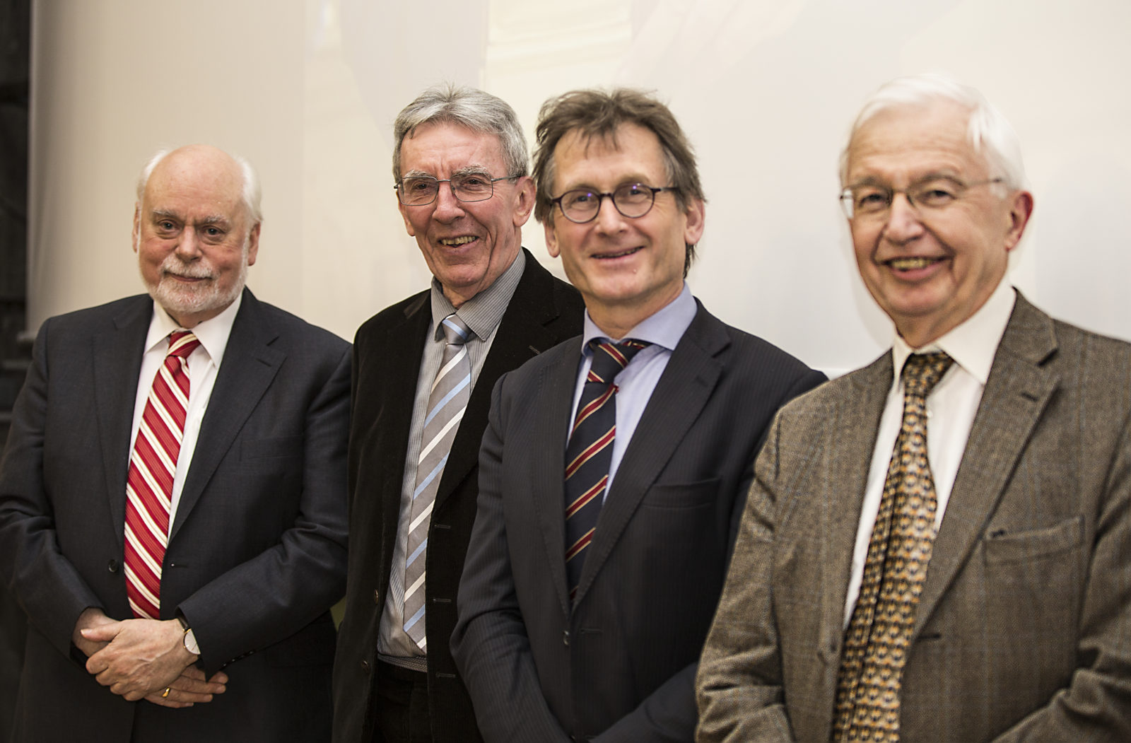 2016 Nobel Prize in Chemistry winners Fraser Stoddart, Jean-Pierre Sauvage and Ben Feringa with Jean-Marie Lehn